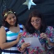 Karina and Maru at the Brighton graduation ceremony