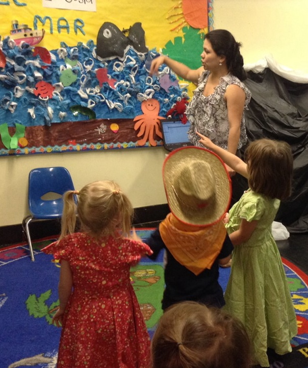 Pine Village Director Kelly Cisneros and preschoolers travel to Peru during Summer Session I.